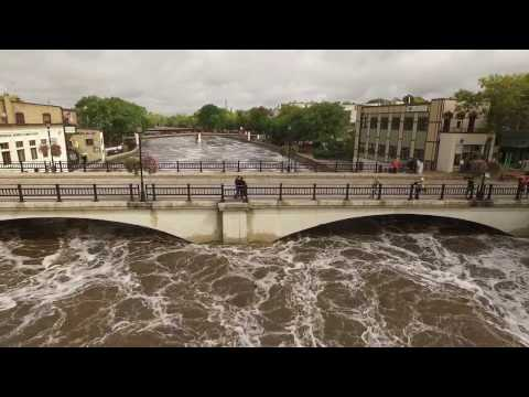 Flooding on Cannon River in Northfield, MN