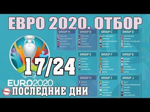 Чемпионат Европы по футболу. 17/24. ЕВРО 2020. 10 тур. A, B, H. Результаты, расписание, таблица