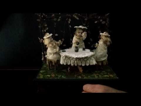 German Musical Manivelle Automaton of a Tea Party