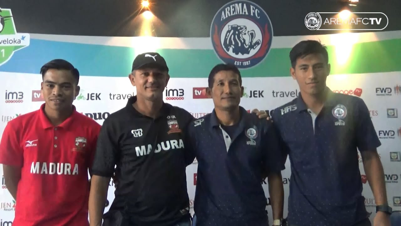 Presscon Arema Fc Vs Madura United Youtube