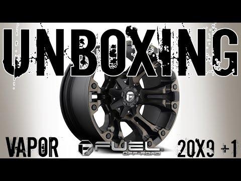Fuel Offroad Vapor 20x9 +1 Wheel Rim Unboxing