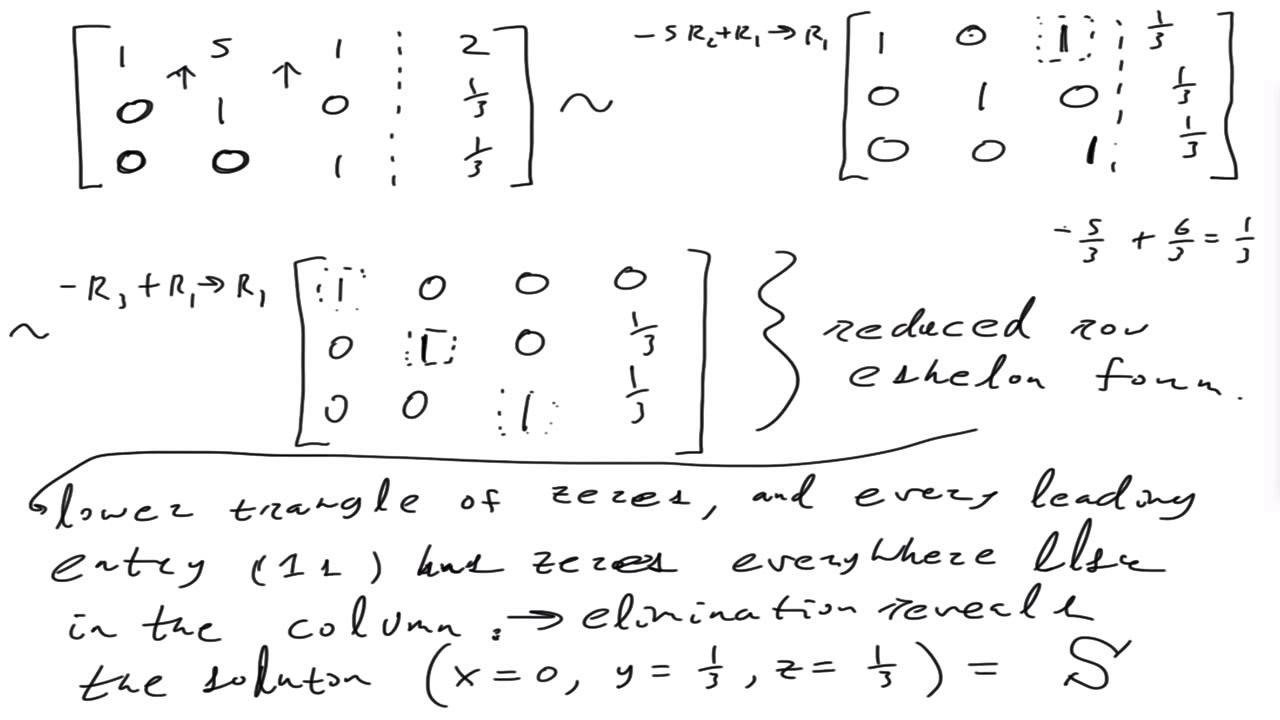 Examples Of Gaussian Elimination Amp Reduced Row Echelon