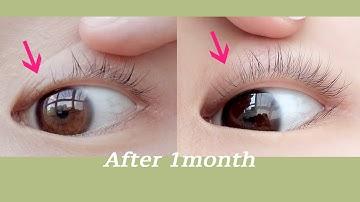 [Eng]한 달 동안 속눈썹 & 눈썹 길러보기🗓️ 얇고 짧은 속눈썹 들어와요! 속눈썹 영양제 후기 / Foltene eyelash treatment review