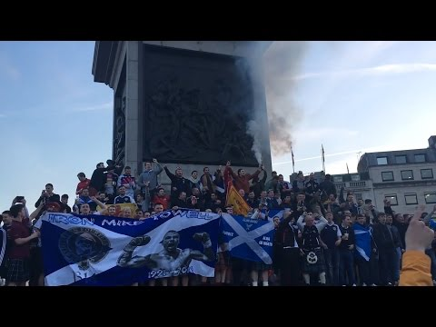 Scotland Fans Take Over Trafalgar Square