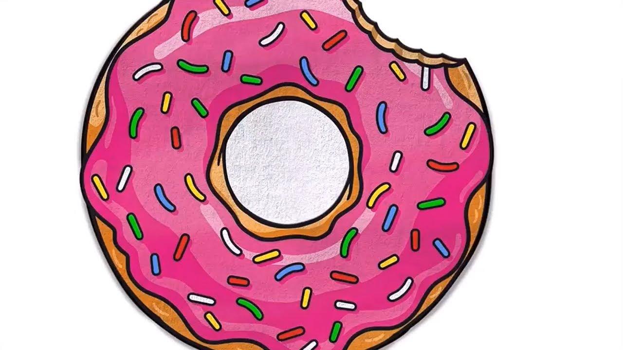 Картинка пончик в очках