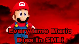 Every Time Mario Dies In SML!