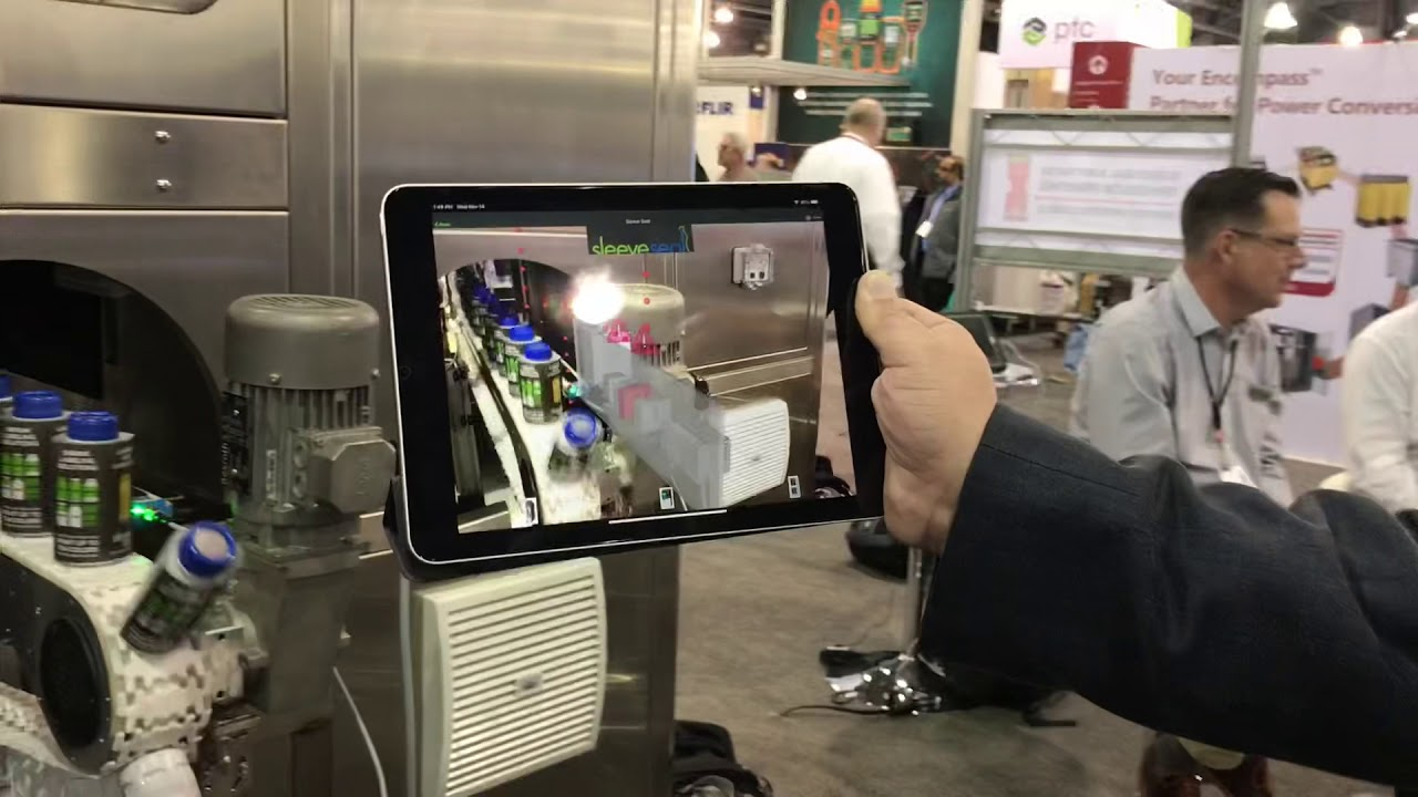 PTC Augmented Reality on Sleeve Seal Machines at Automation Fair 2018