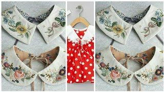 Cutting and stitching of Coller neck design for baby frocks
