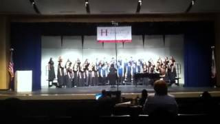Clayton Valley Concert Choir singing CRAWDAD SONG