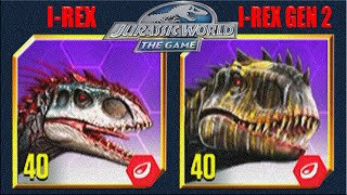 I-REX Vs I-GEN 2 Vs VIP EXCLUUSIVE EVENT | JURASSIC WORLD THE GAME