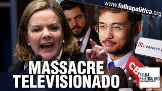 Gleisi Hoffmann tenta se destacar após ser 'rebaixada' e sofre massacre - Kim Kataguiri