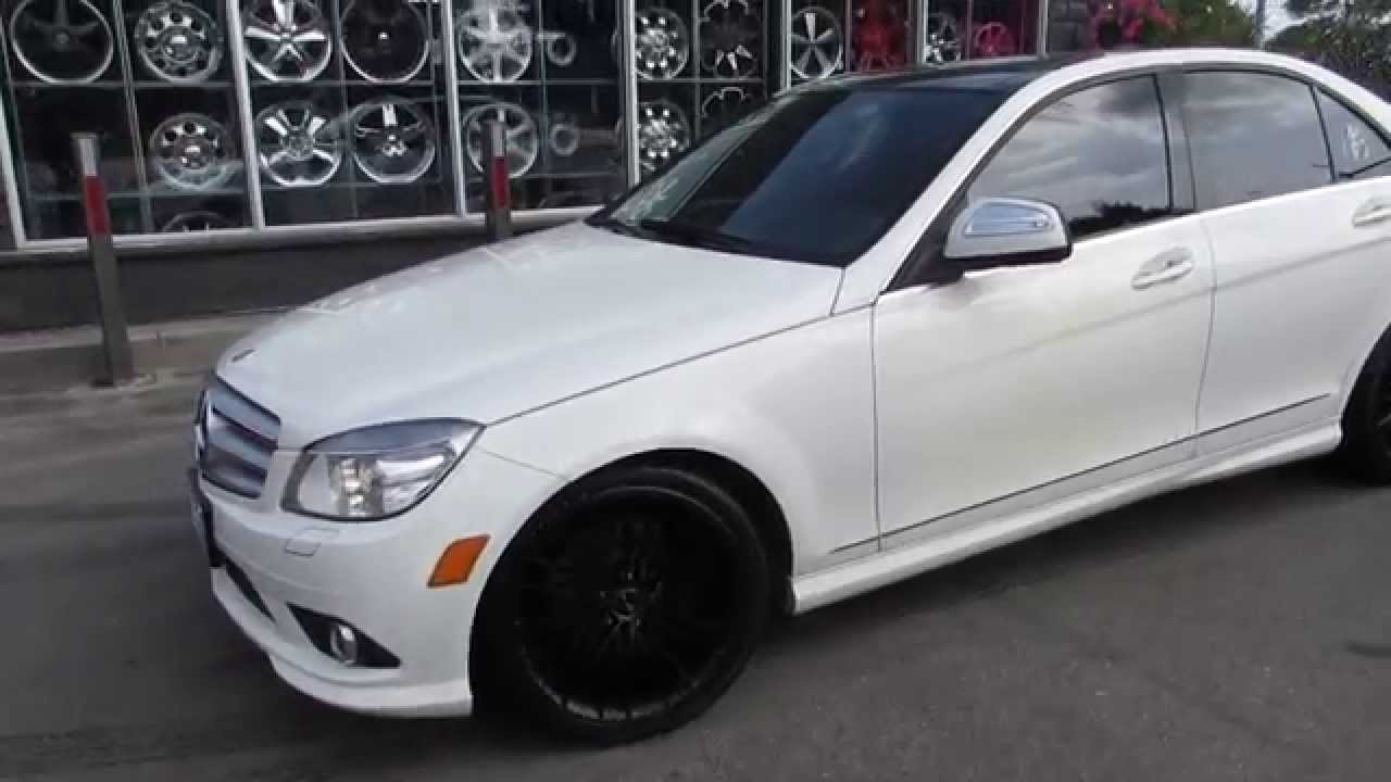 medium resolution of hillyard rim lions 2008 mercedes benz c350 with 18 matte black rims tires