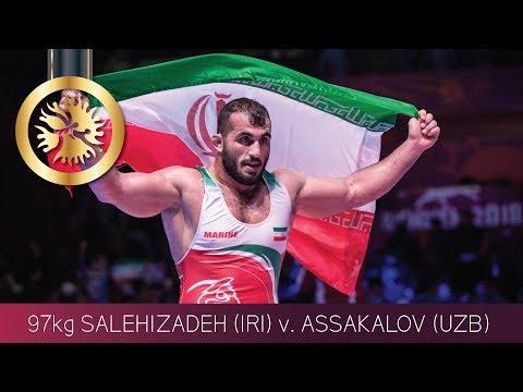 GOLD GR - 97 Kg: S. SALEHIZADEH (IRI) V. R. ASSAKALOV (UZB)