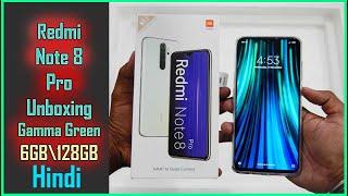 Xiaomi Redmi Note 8 Pro Unboxing gamma green   Hindi