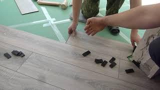 Укладка ламината по диагонали | Видеоурок | РемБрандт ремонт
