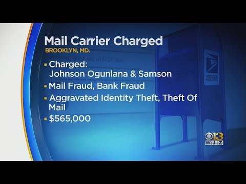 Maryland Mail Carrier, Accomplice Indicted For Allegedly Stealing From Postal Customers