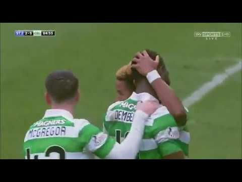 Moussa Dembele goal vs St Johnstone - 25 pass build up play (Sky Sports)