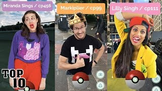 Top 10 Biggest YouTubers Playing Pokemon Go