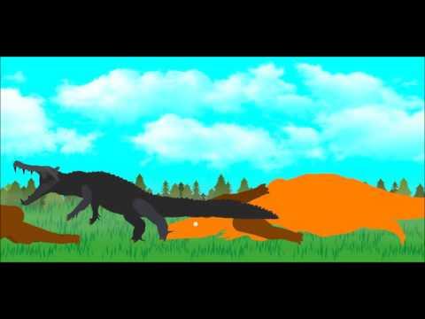 PDW   Kaprosuchus vs smilodon