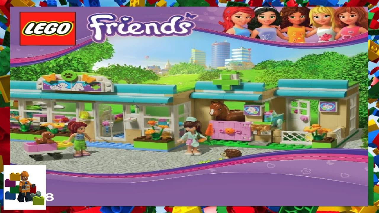 Lego Instructions Lego Friends 3188 Heartlake Vet Youtube