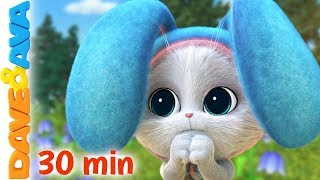 🥕 In a Cabin in the Woods and More Baby Songs | Nursery Rhymes by Dave and Ava 🥕