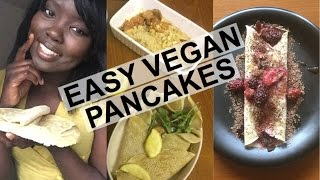 EASY VEGAN PANCAKES | 3 INGREDIENTS, OIL FREE, ONLY £0.05p FOR 6