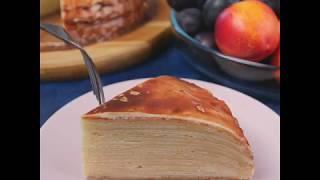 Рецепт блинного торта | Блинный торт со сливочным кремом