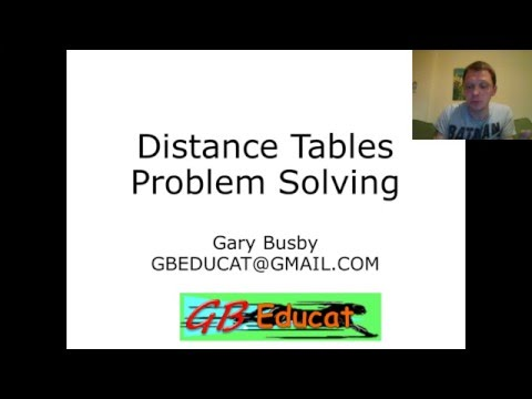 GG106  Distance Tables Problem Solving 2
