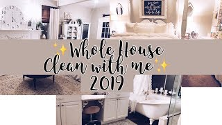 Clean With Me // Whole House // Cleaning Motivation 2019