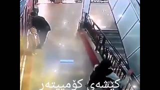 Man saves child from falling off stairs