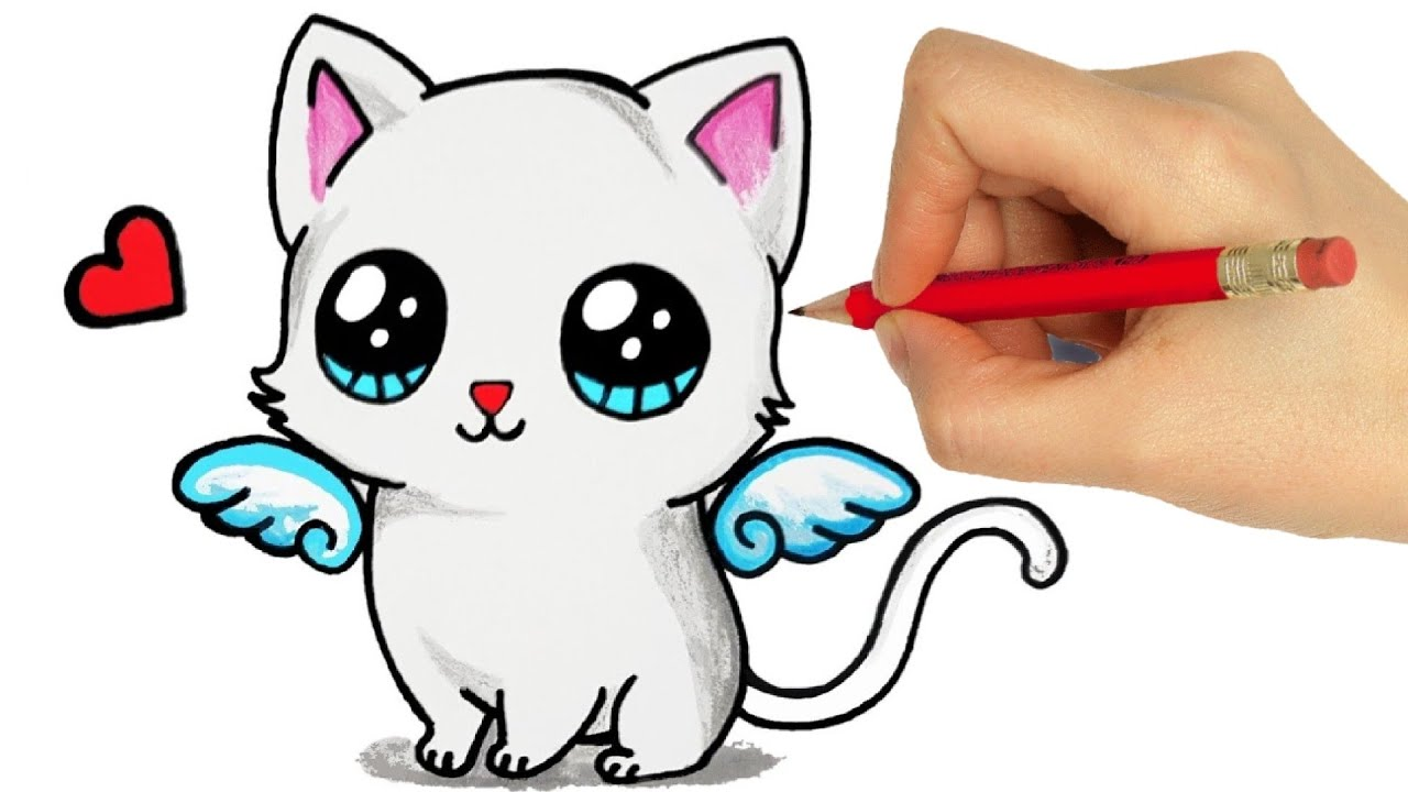 How To Draw A Cat Easy Step By Step Drawing A Cat Easy Step By Step Youtube
