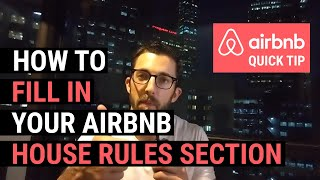 Gambar cover Airbnb Quick Tip: How to fill in your Airbnb house rules section