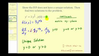 Find Two Solutions t๐ a First Order Initial Value Problem