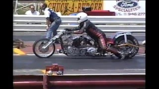 Pete Hill Top Fuel Motorcycle fire1992 St. Louis.avi