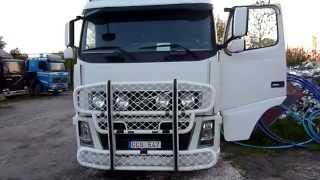 volvo fh16 660 cold start and inside cab
