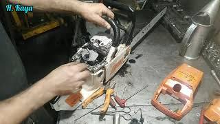 Motorlu Testere Zor Çalışıyor Hava alıyor. Ağaç Motoru Tamirini yaptık.