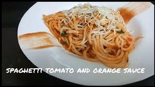 How to make spaghetti tomato and orange sauce | Italian recipe | sweet bite recipe |