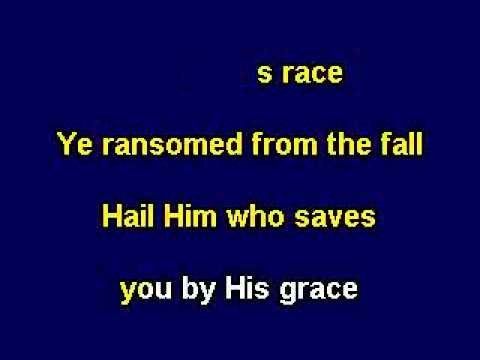All Hail The Power of Jesus' Name, Gospel Karaoke Video With Lyrics