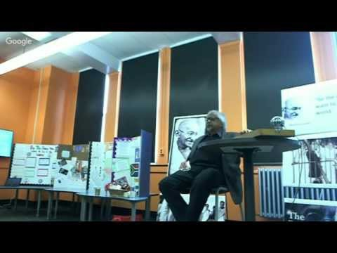 Arun Gandhi Visits Integrated Arts and Technology High School in Rochester NY