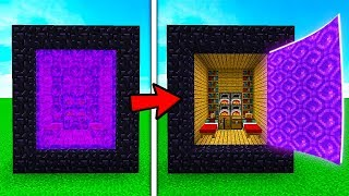 СЕКРЕТНАЯ БАЗА ВНУТРИ ПОРТАЛА В МАЙНКРАФТ ! Нуб построил дом Троллинг Ловушка Minecraft Мультик