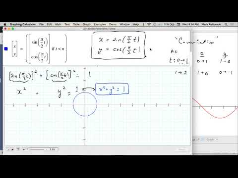 MAT 271 Wed Apr 18: Parametric Circles & Ellipses
