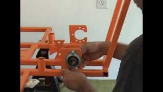Mounting Rear Axel Bearings On A Bar Stool Racer By Www.barstoolracerplans.com