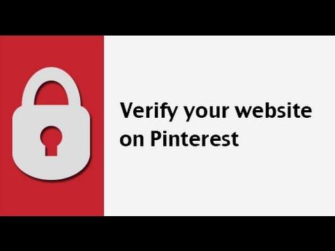 how to verify your website url on pinterest youtube. Black Bedroom Furniture Sets. Home Design Ideas