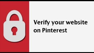 How to verify your website url on Pinterest
