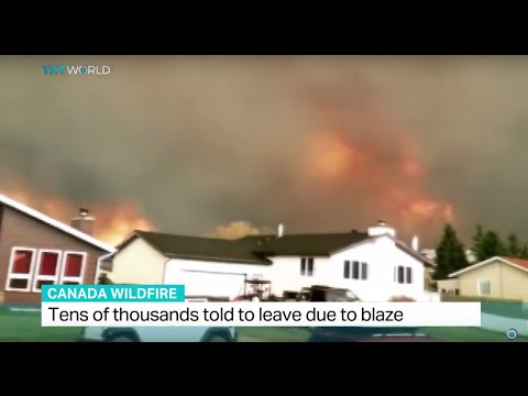 Tens of thousands told to leave due to blaze in Canada, Sean Mallen reports