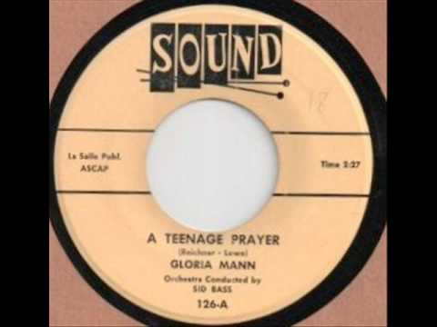 Teenage Prayer   Gloria Mann 1955 45 Sound 126 A