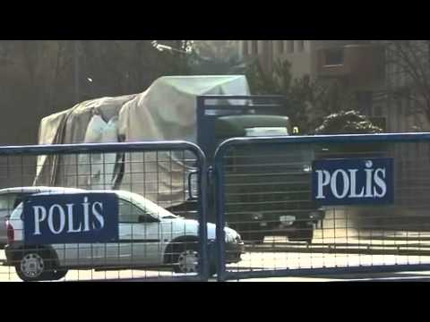 Damaged cars removed from Ankara blast site