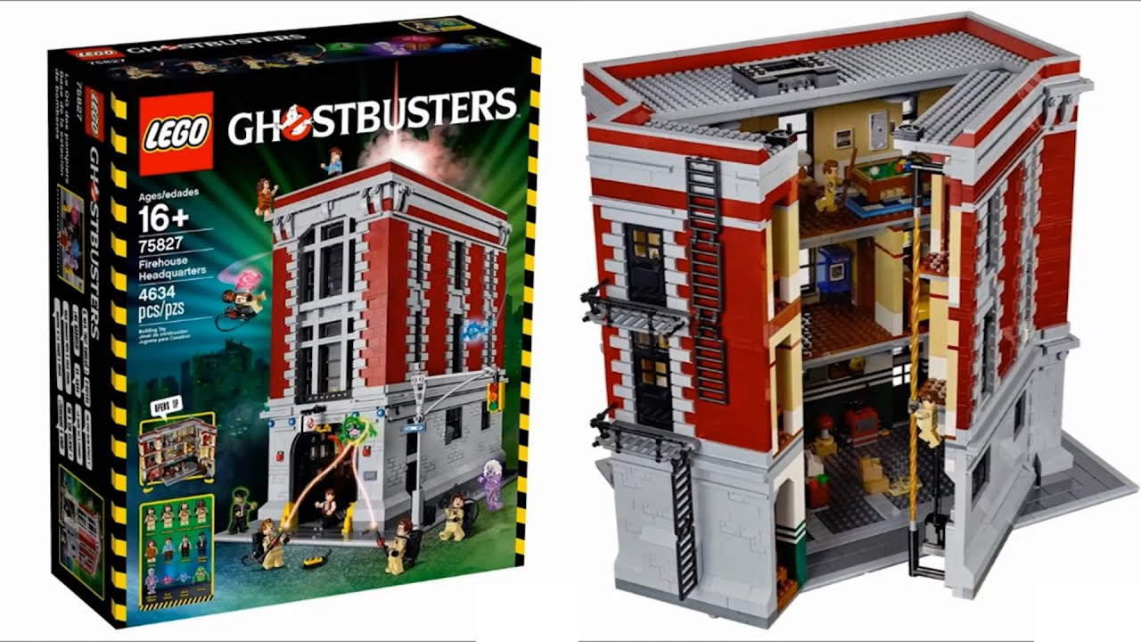 lego ghostbusters firehouse 2016 sets pictures youtube