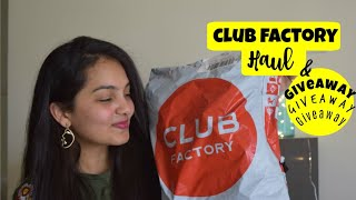 CLUB FACTORY HAUL + GIVEAWAY || HOLI SALE 2019|| Online Shopping in India