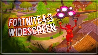 How to Play Fortnite In a Stretched/Widescreen 4:3 Resolution (Tutorial) (PC ONLY)